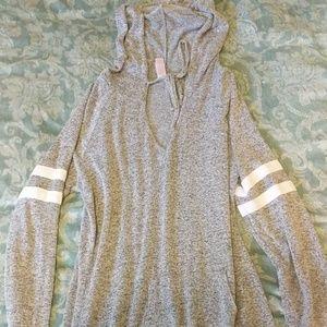 Sweater dress chest v cut